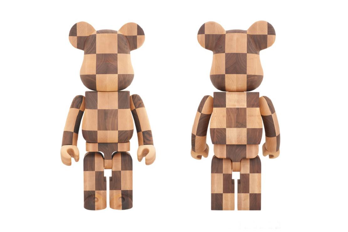 Karimoku x Medicom Toy Limited Edition Wooden 1000% Bearbrick