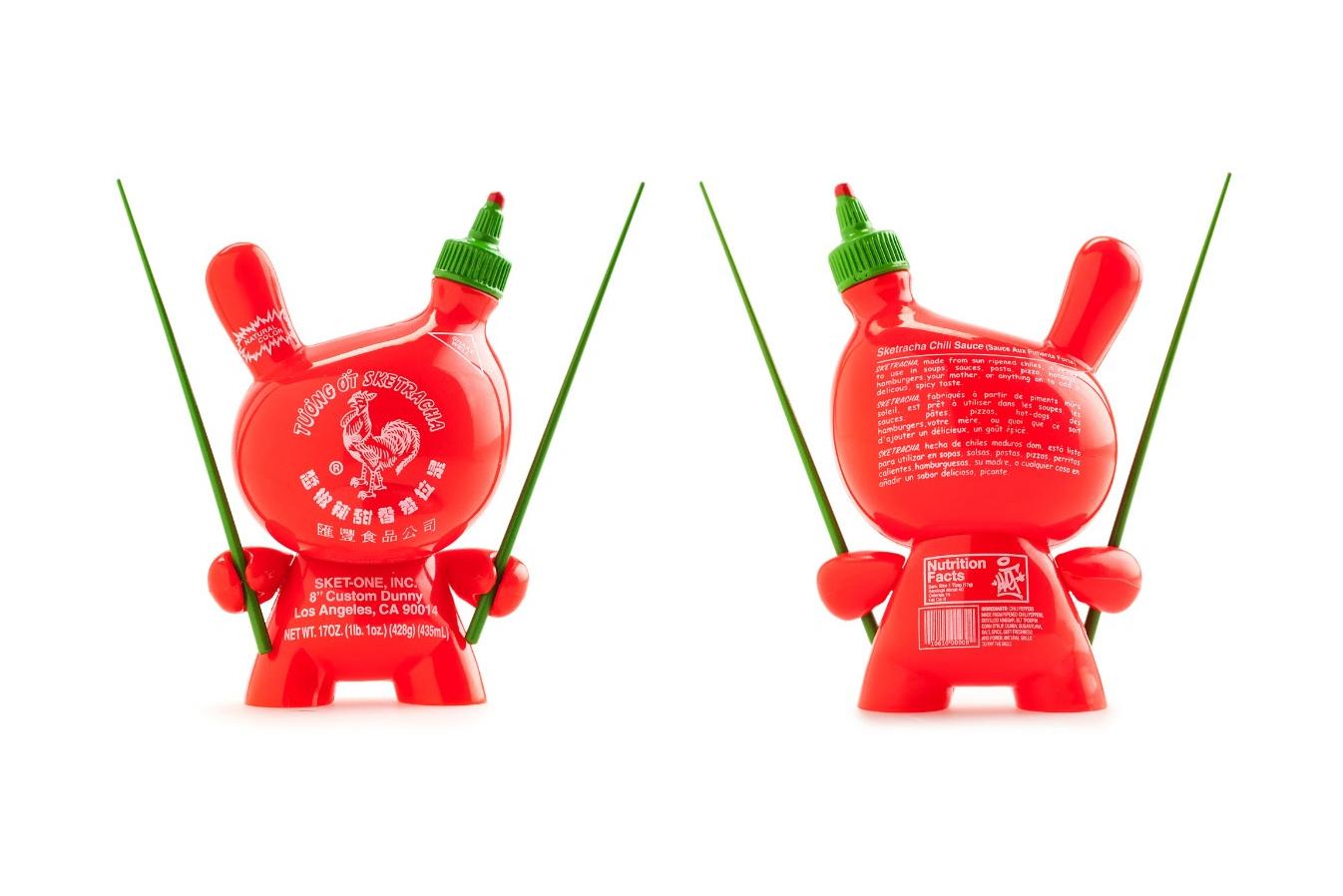 Kidrobot & Sket One Transform the Dunny Into a Sriracha Bottle