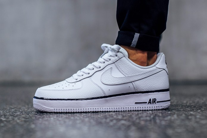 Nike's Latest White Air Force 1 Sports a Dash of Black