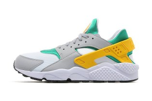 Nike Decorates the Air Huarache in Green, Gold & Grey