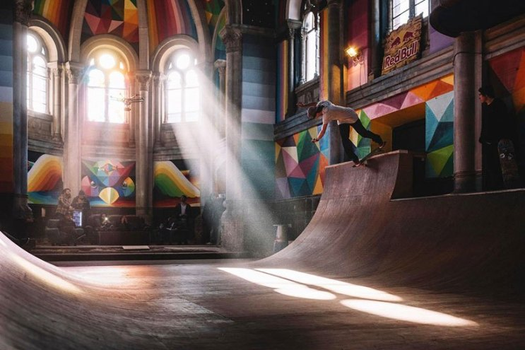Converted Church Becomes Colorful Skate Park