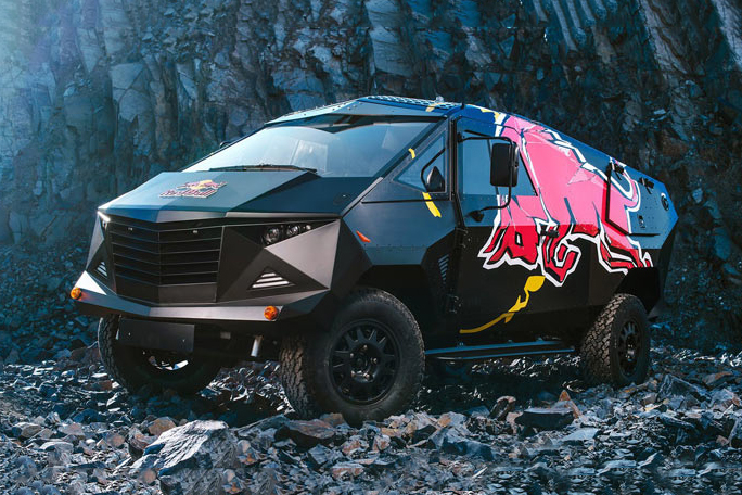 Red Bull and Land Rover Join Forces for a Party Van Inspired by the F-22 Raptor Jet