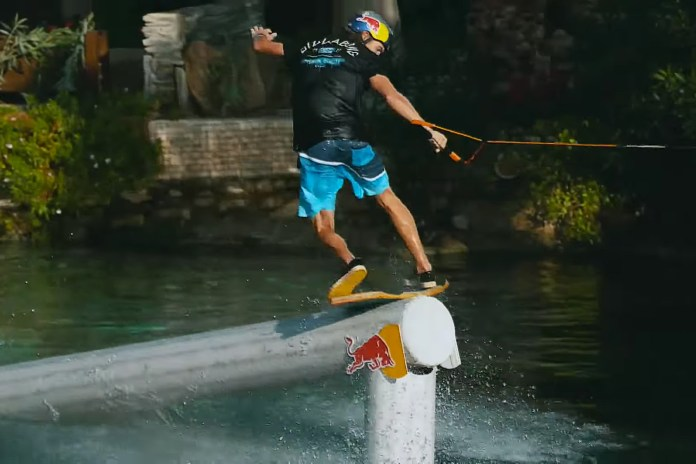 Watch Red Bull's Brian Grubb Wakeskate Hierapolis' Ancient Cleopatra Pool