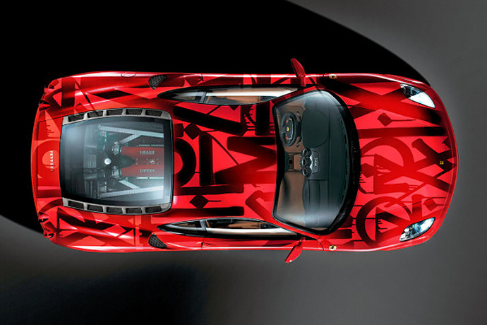 RETNA Paints on a Ferrari F430 for Art Basel Miami