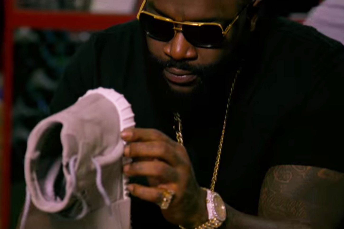 Rick Ross Picks up Yeezy Boosts He Missed out on at Flight Club