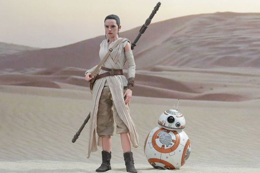 Hot Toys 'Star Wars' Rey & BB-8 Collectible Figures