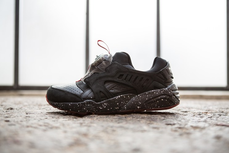 Trapstar x PUMA Disc Blaze: Black and Red Meet Speckled Print
