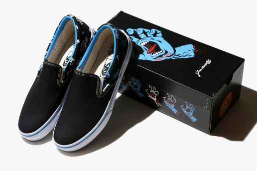 "Santa Cruz's Jim Phillips-Designed ""Screaming Hand"" Decorates a Vans Classic"