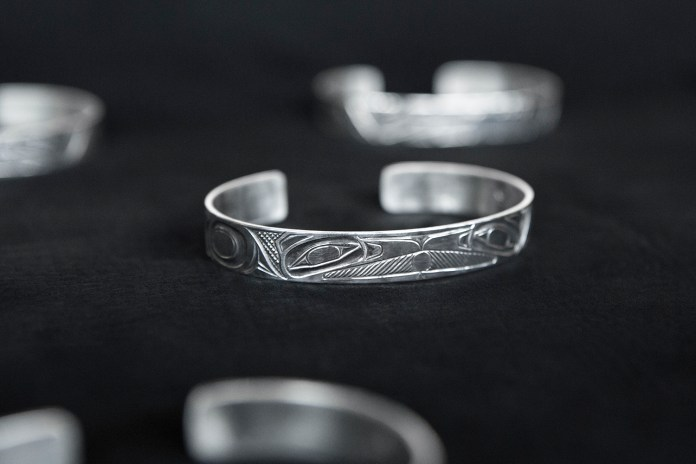 wings+horns x Lattimer Gallery x Shawn Edenshaw Silver Cuff