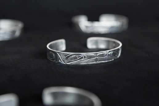 wings + horns x Lattimer Gallery x Shawn Edenshaw Silver Cuff