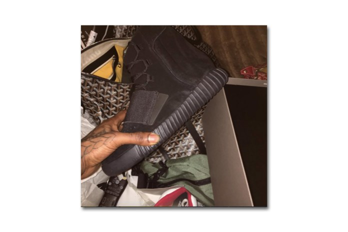 Kim Kardashian and Travis Scott Confirm the Triple-Black Yeezy Boost 750s