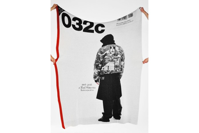 '032c' Has Made a Blanket of Its Famous Raf Simons Retrospective Cover