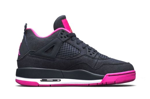 """#hypebeastkids Air Jordan 4 Retro GS """"Dark Obsidian/Vivid Pink"""""""