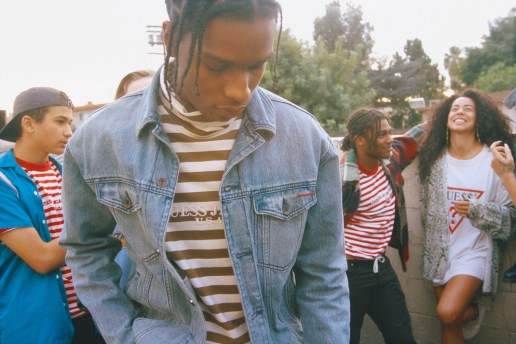 This Upcoming A$AP Rocky x GUESS Collaboration Takes You on a Trip to the '90s