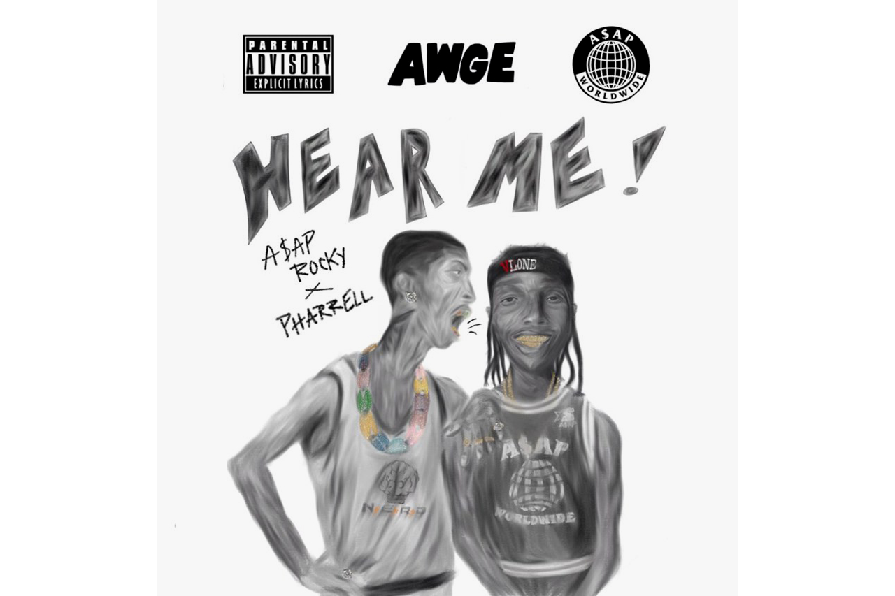 "A$AP Rocky & Pharrell Link up for ""Hear Me"""