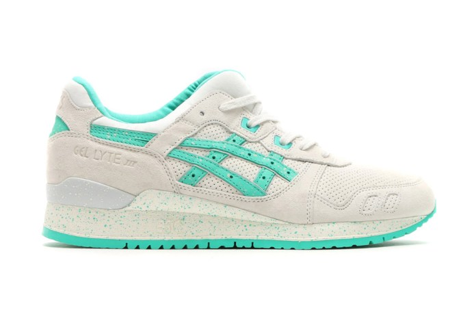 Aqua Green Accents Highlight This ASICS GEL-Lyte III