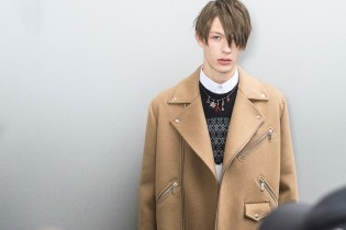 Backstage at Dior Homme's 2016 Fall/Winter Collection