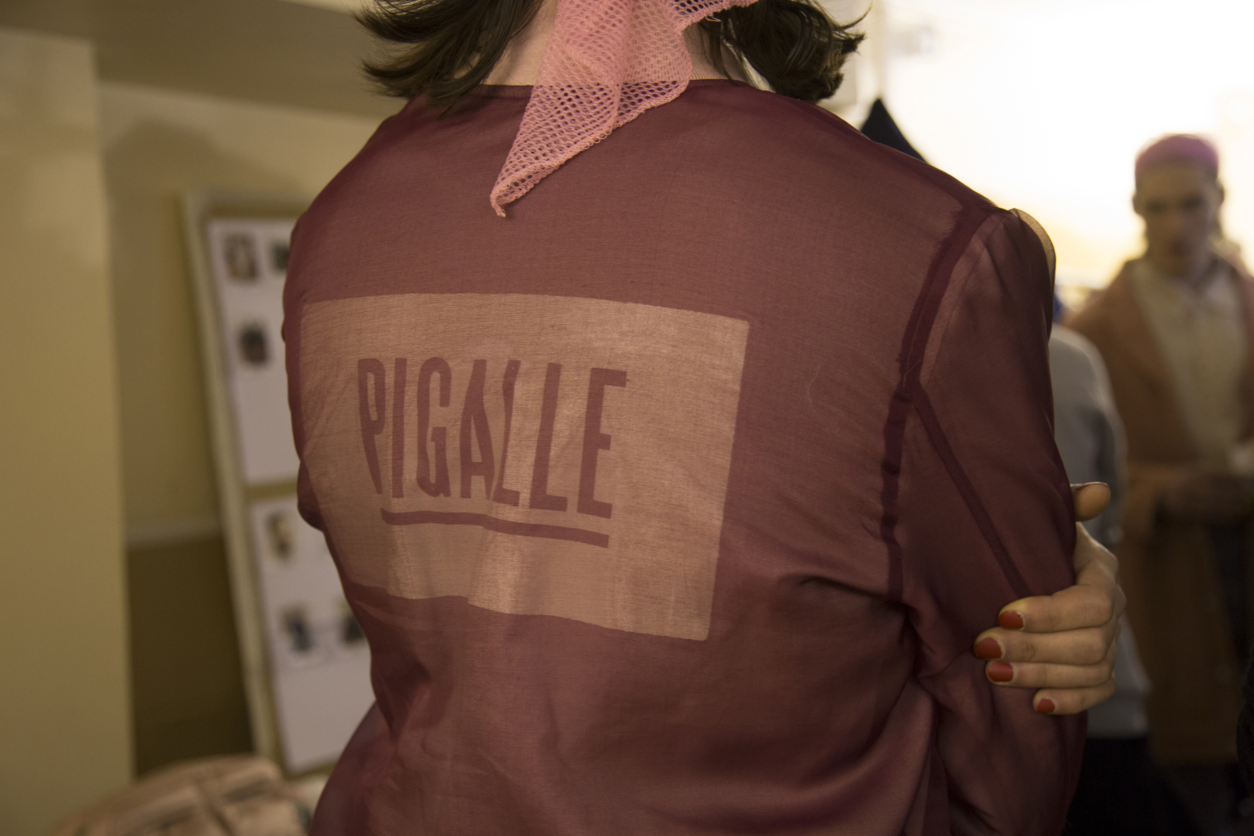 Backstage at Pigalle From Its Paris Fashion Week 2016 Fall/Winter Runway Show