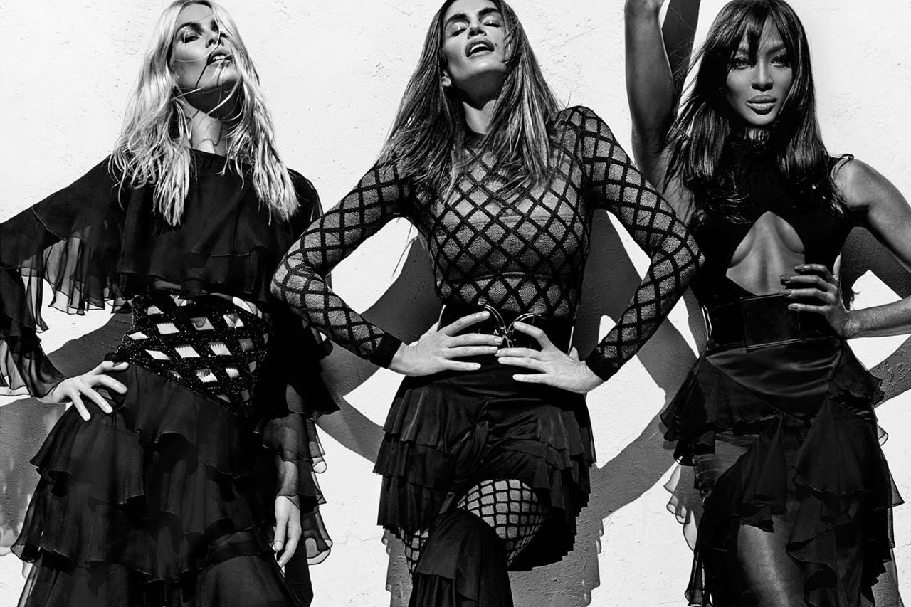 Cindy Crawford, Naomi Campbell and Claudia Schiffer Reunite for Balmain's Latest Campaign