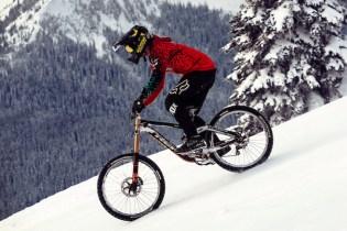 Casey Brown and Cam McCaul Bike Down Ski Slopes
