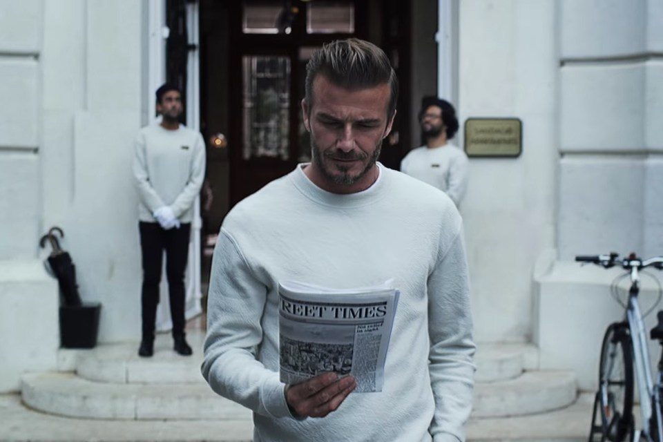 david beckham h m modern essentials spring 2016 video hypebeast. Black Bedroom Furniture Sets. Home Design Ideas
