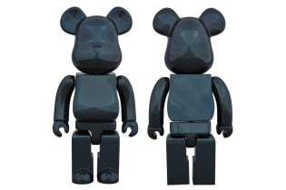 "Medicom Toy 400% ""Dry Carbon Blue"" Bearbrick"
