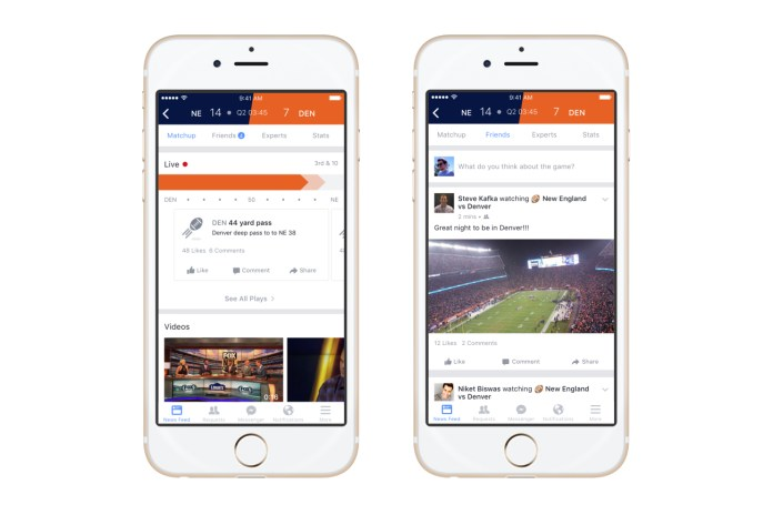 Facebook Launches Sports Stadium