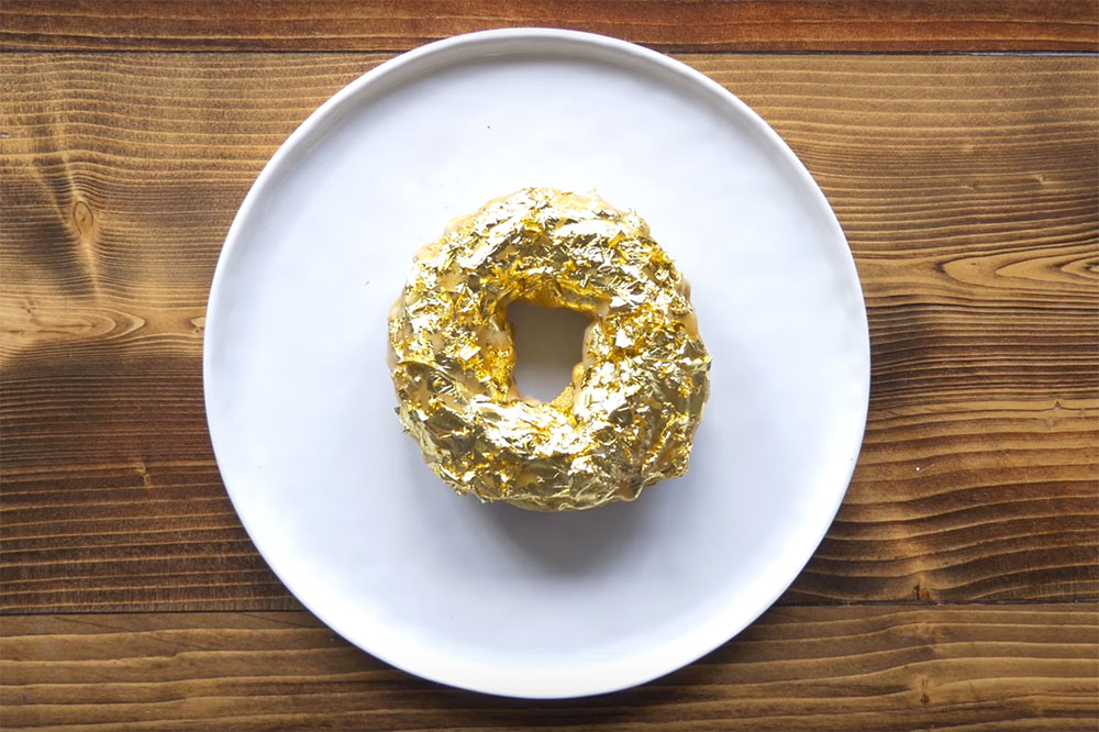 Here's How the $100 USD Golden Cristal Ube Donut Is Made