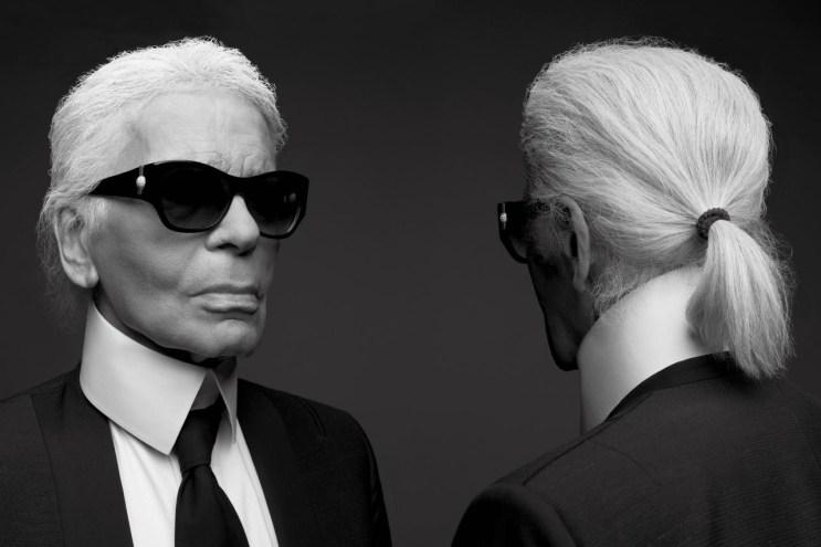 Karl Lagerfeld & Hedi Slimane Shoot Each Other for 'V' Magazine
