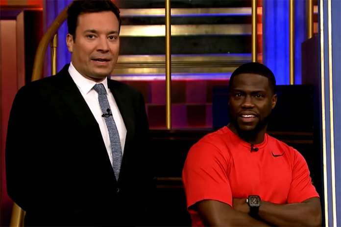 Kevin Hart Debuts His Signature Nike Sneakers on 'the Tonight Show'