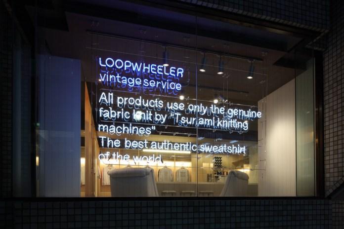 """LOOPWHEELER Opens the Wonderwall-Designed """"vintage service"""" in Tokyo"""