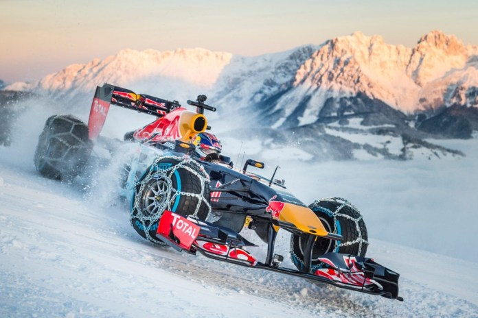 Max Verstappen Drives an F1 Car on a Ski Slope in Insane Publicity Stunt