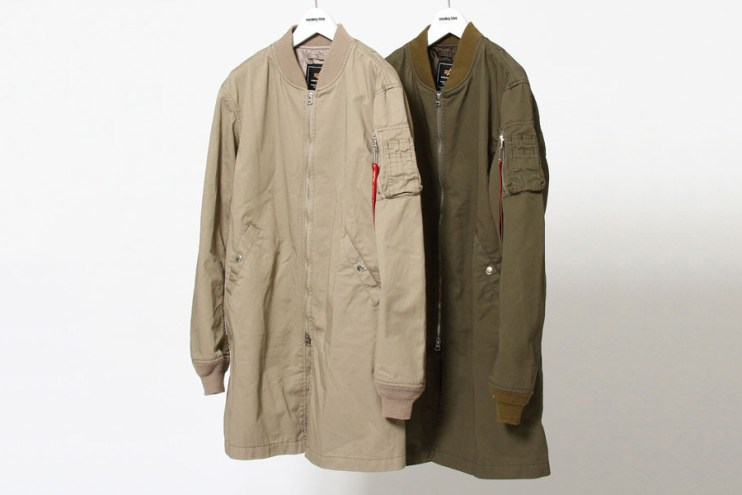 monkey time x Alpha Industries Elongated MA-1