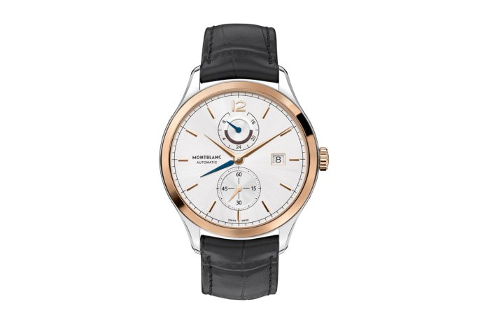Montblanc Heritage Chronométrie Dual Time Watch with Golden Bezel
