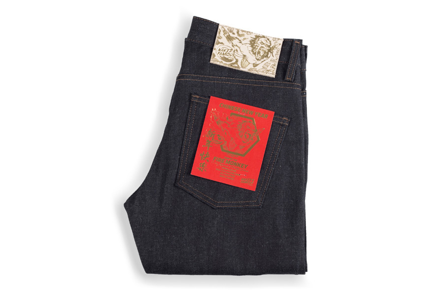 """Naked & Famous Denim Chinese New Year """"Fire Monkey"""" Super Skinny Guy Jeans"""