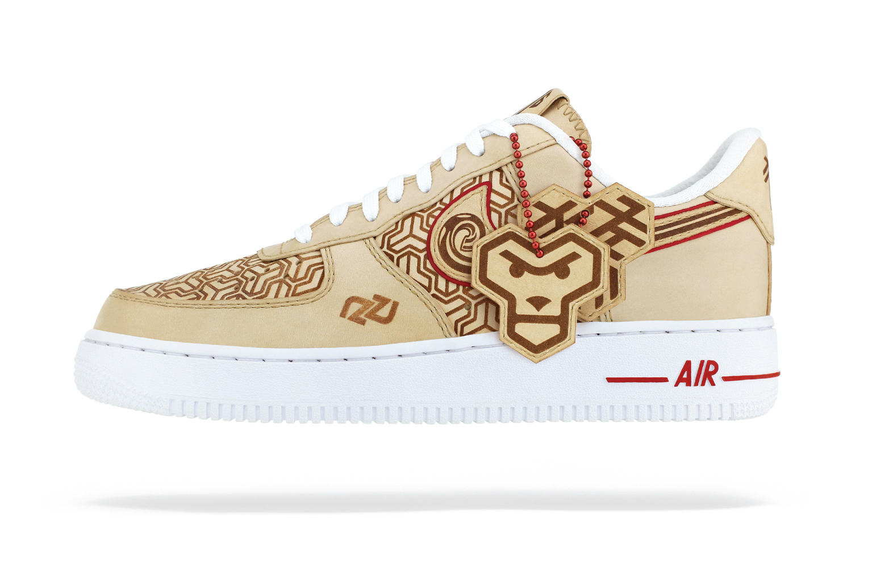 "Nike Air Force 1 ""Year of the Monkey"" Customs by Zhijun Wang"
