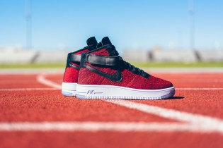 "Nike Air Force 1 High Flyknit ""University Red"""