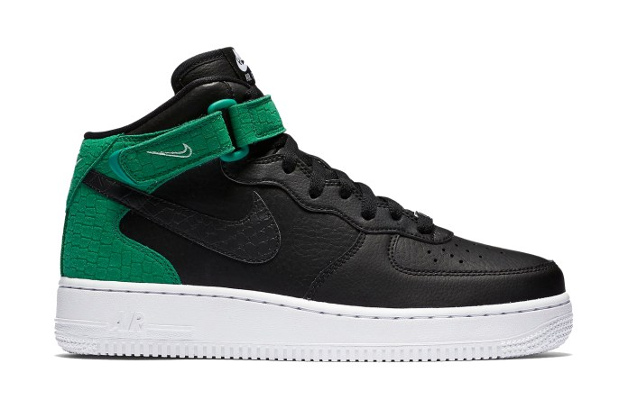Nike's Latest Air Force 1 Mids Don Bold Color-Blocking & Reptilian Accents