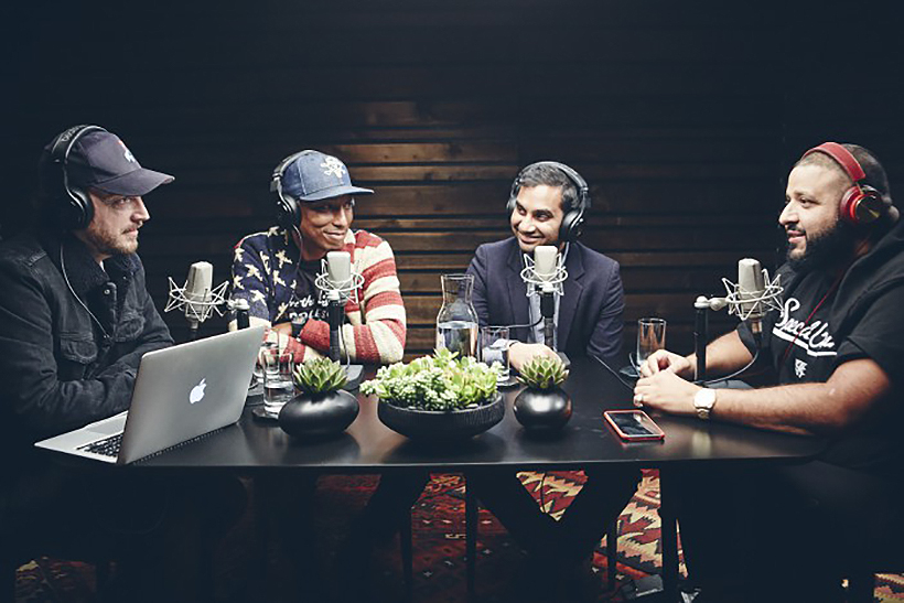 DJ Khaled and Aziz Ansari Guest Stars on Pharrell's Beats 1 Show