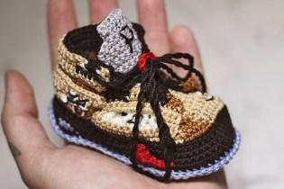 "#hypebeastkids: Picasso Babe Drops Supreme x Air Jordan 5 ""Desert Camo"" Booties"