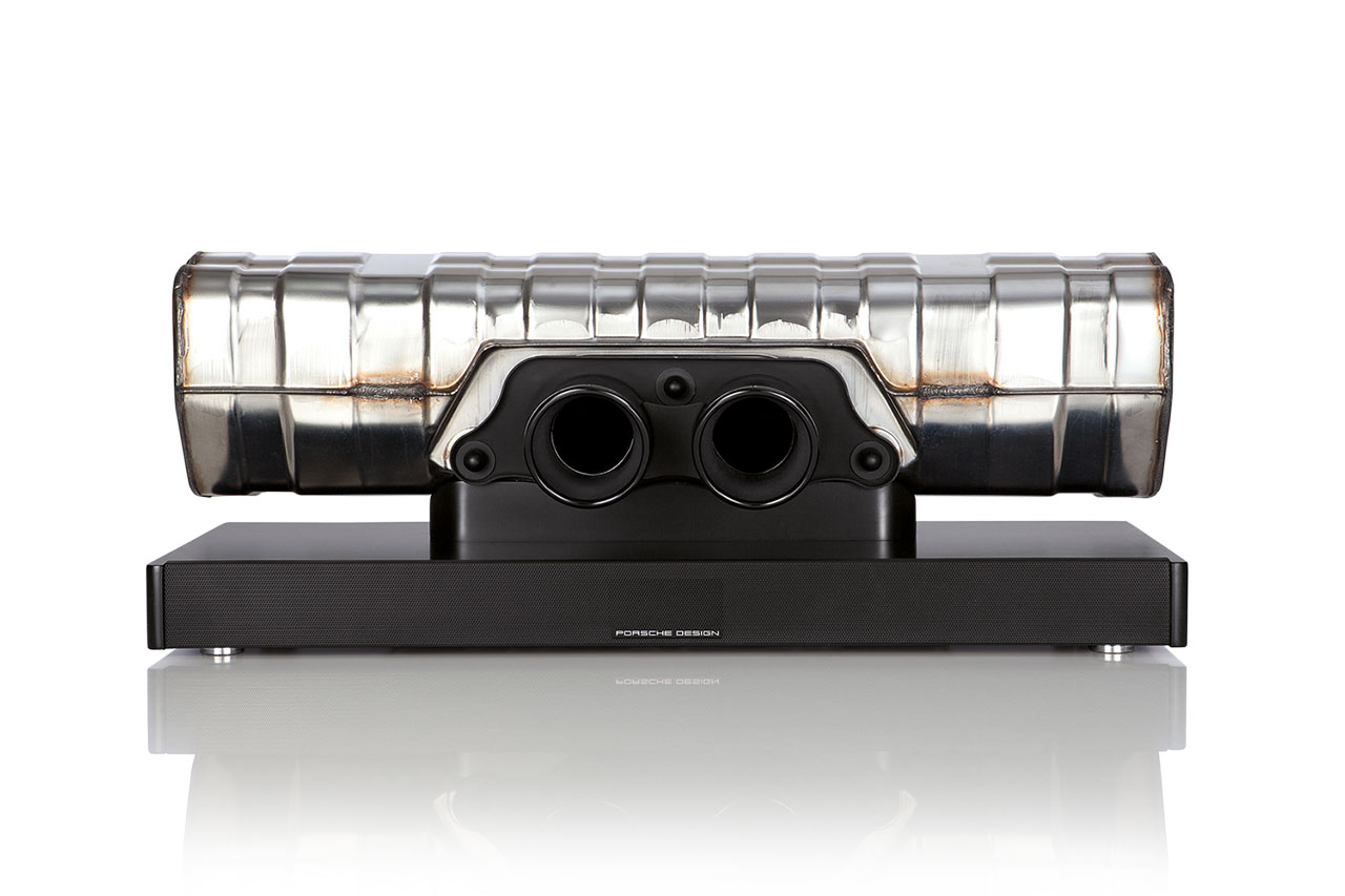 Porsche Design Converts the Exhaust of a 911 GT3 Into a High-Performance Soundbar
