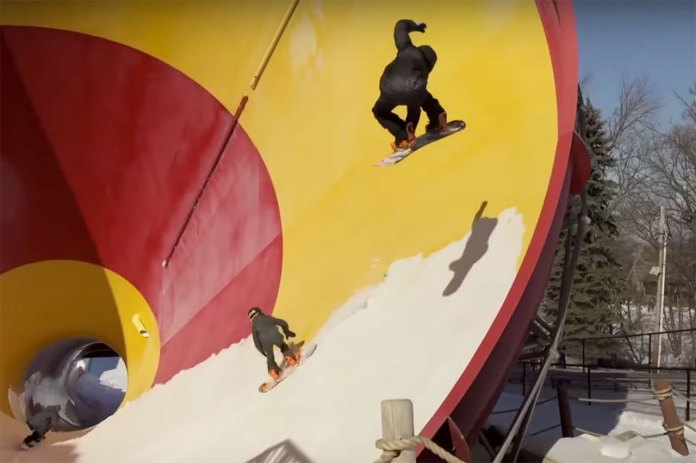 Red Bull Goes Snowboarding in an Empty Water Park