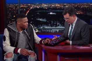 Russell Westbrook Treats Stephen Colbert to Some New Frames