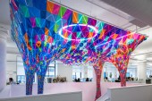 SOFTlab Creates a Stained Glass Sculpture for the Behance Headquarters