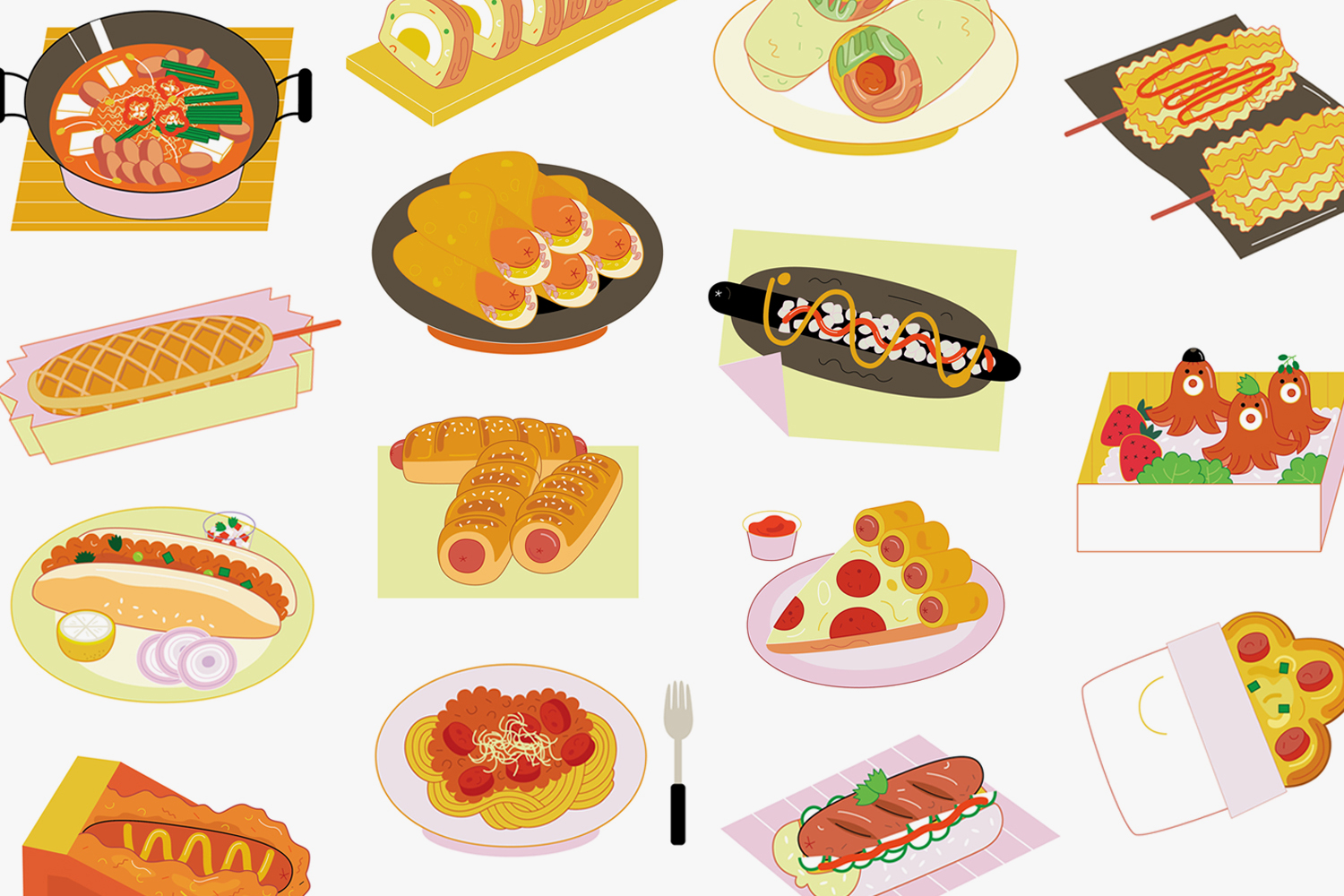 Introducing 14 of the Hot Dog's Asian Cousins
