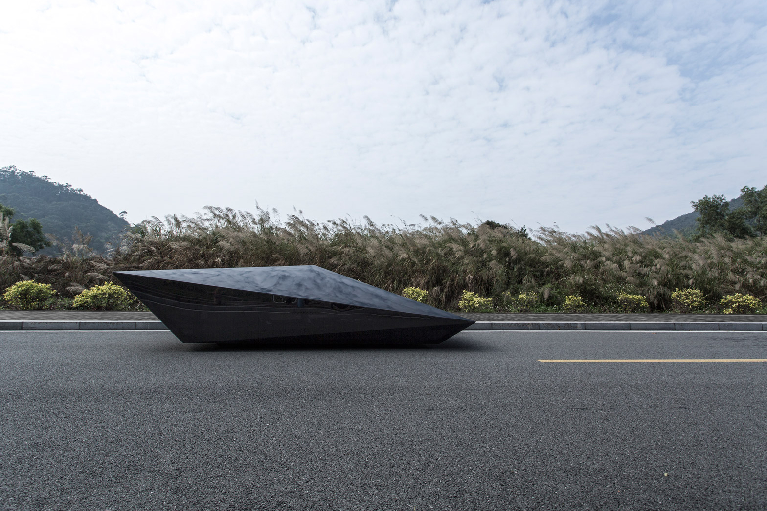 Check out United Nude's Polygonal Car Based on the Lamborghini Countach
