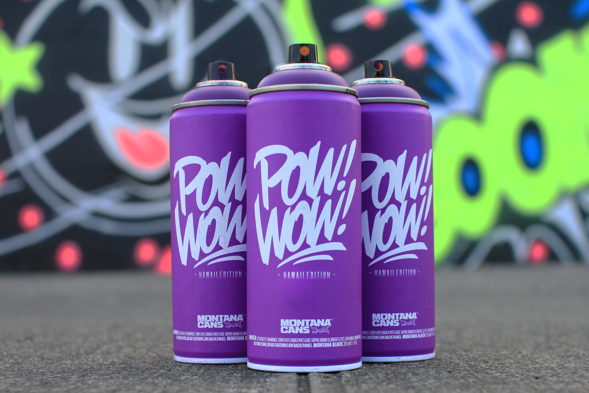 POW! WOW! Hawaii x Montana 2016 Limited Edition Spray Can