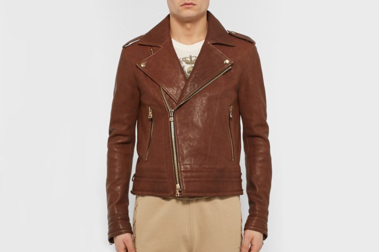 Take Balmain's Slim-Fit Leather Biker on a Safari Tour