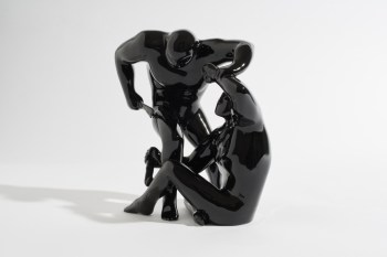 "Cleon Peterson x Case Studyo ""Destroying the Weak"" Black Edition Sculptures"