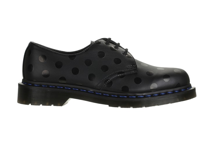 colette Dresses Dr. Martens' 1461 3-Eye Shoe in Polka Dots